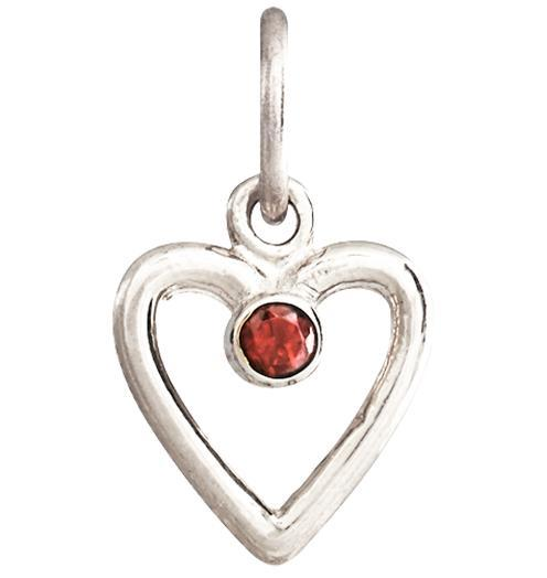 Birth Jewel Heart Charm With Citrine - 14k White Gold - Jewelry - Helen Ficalora - 2