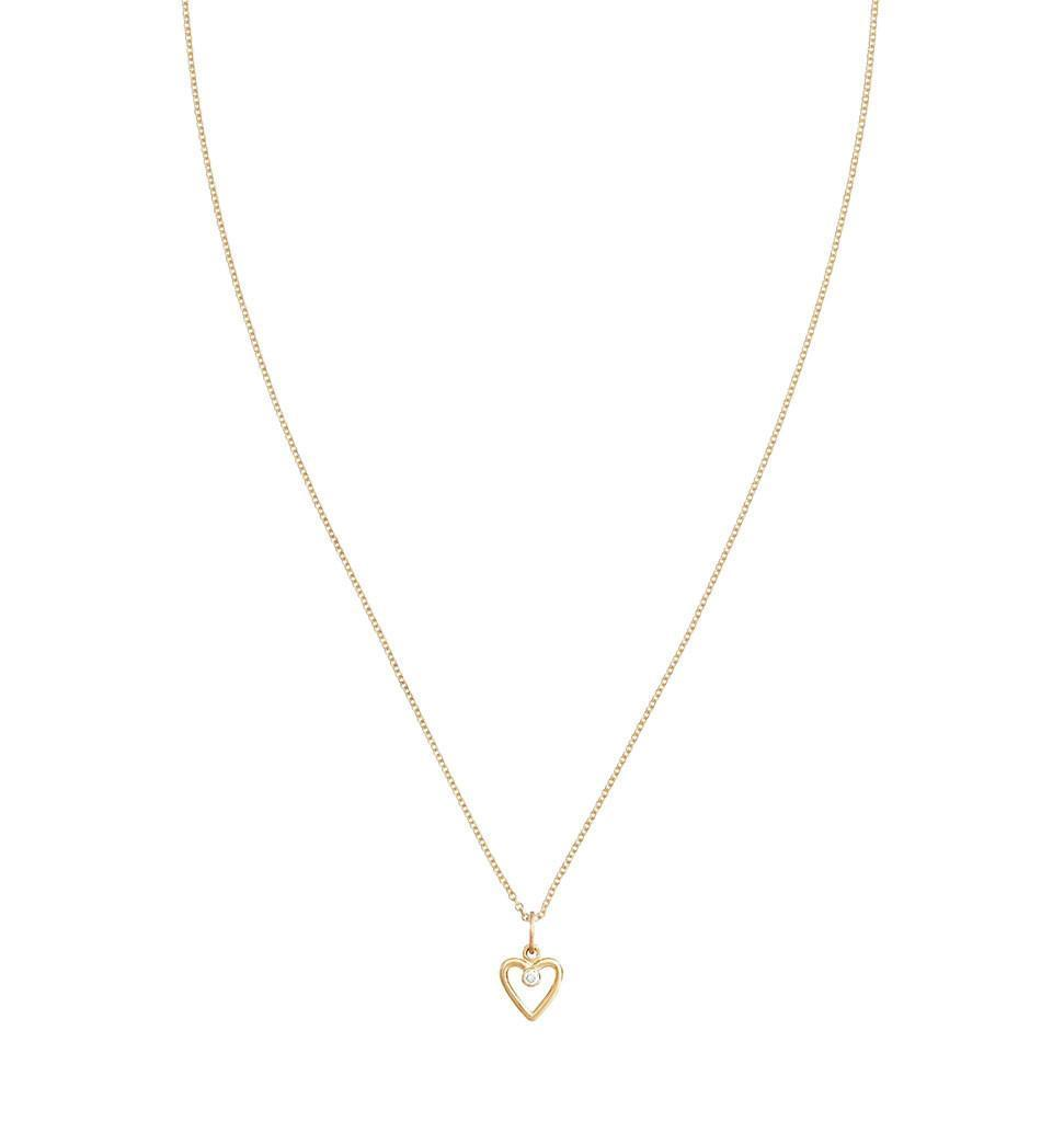 Birth Jewel Heart Charm With Diamond -  - Jewelry - Helen Ficalora - 4