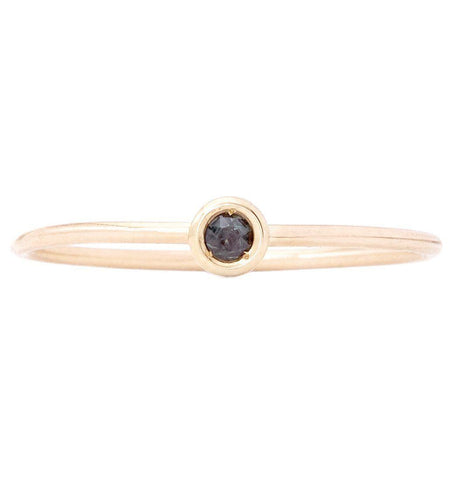 Birth Jewel Stacking Ring With Alexandrite Jewelry Helen Ficalora 14k Yellow Gold 5