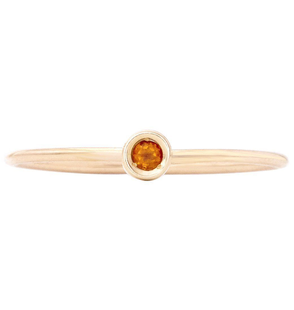 Birth Jewel Stacking Ring With Citrine Jewelry Helen Ficalora 14k Yellow Gold 5