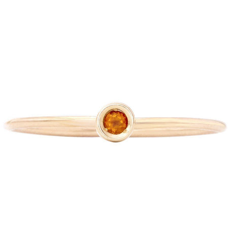 Jewelry - Birth Jewel Stacking Ring With Citrine