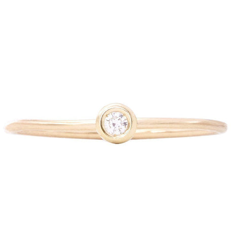 Birth Jewel Stacking Ring With Diamond Jewelry Helen Ficalora 14k Yellow Gold 5