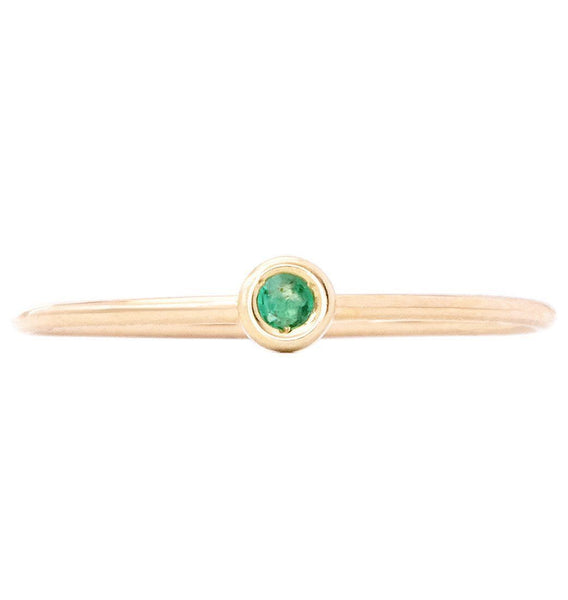 Jewelry - Birth Jewel Stacking Ring With Emerald