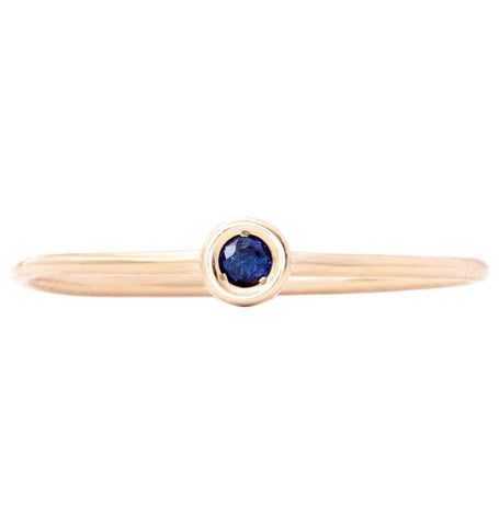 Birth Jewel Stacking Ring With Sapphire Jewelry Helen Ficalora 14k Yellow Gold 5