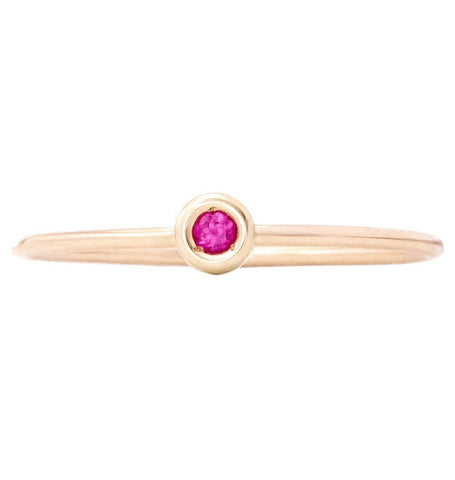 Jewelry - Birth Jewel Stacking Ring With Tourmaline