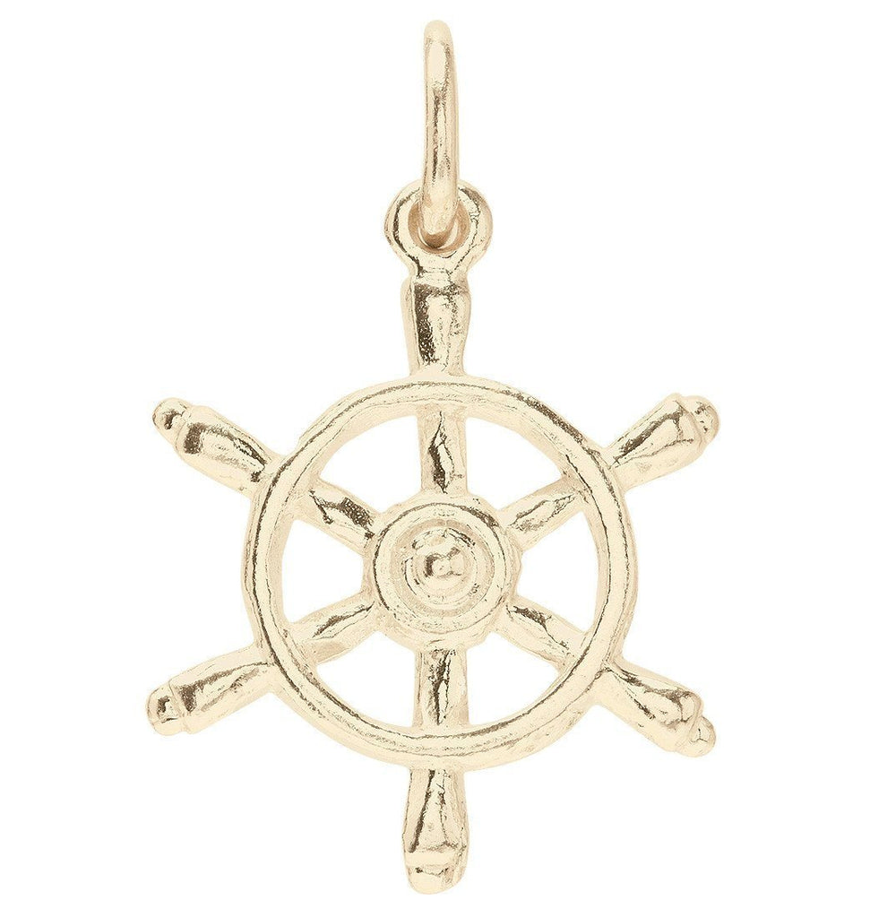 Captains Wheel Mini Charm Jewelry Helen Ficalora 14k Yellow Gold