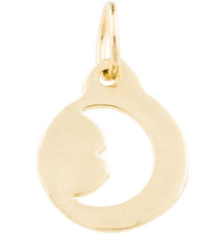 Crescent Moon Cutout Charm - 14k Yellow Gold - Jewelry - Helen Ficalora - 1