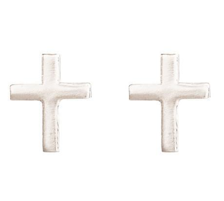 Cross Mini Studs Jewelry Helen Ficalora 14k White Gold
