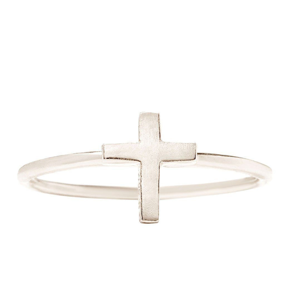 Cross Stacking Ring Jewelry Helen Ficalora 14k White Gold 6