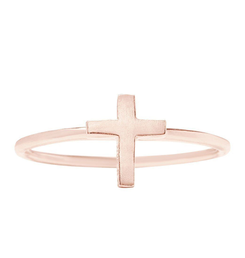 Cross Stacking Ring Jewelry Helen Ficalora 14k Pink Gold 6