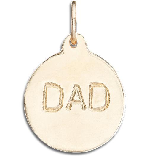 """Dad"" Disk Charm - 14k Yellow Gold - Jewelry - Helen Ficalora - 1"