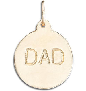 """Dad"" Disk Charm Jewelry Helen Ficalora 14k Yellow Gold"
