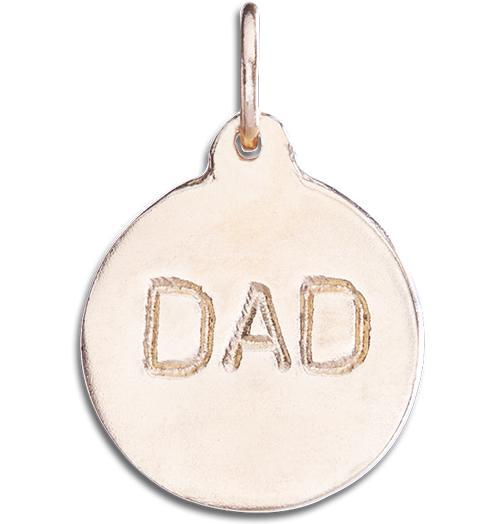 """Dad"" Disk Charm - 14k Pink Gold - Jewelry - Helen Ficalora - 3"
