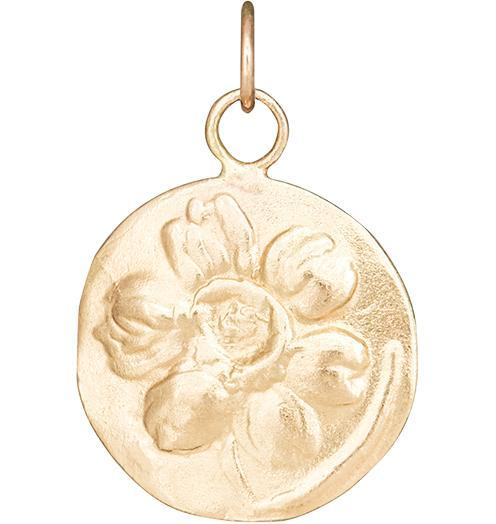 Daffodil Repouss̩e Charm - 14k Yellow Gold - Jewelry - Helen Ficalora - 1