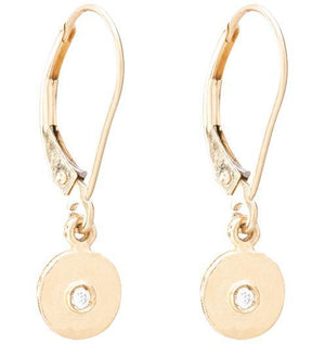 Dangle Disk Earrings With Diamond Jewelry Helen Ficalora 14k Yellow Gold