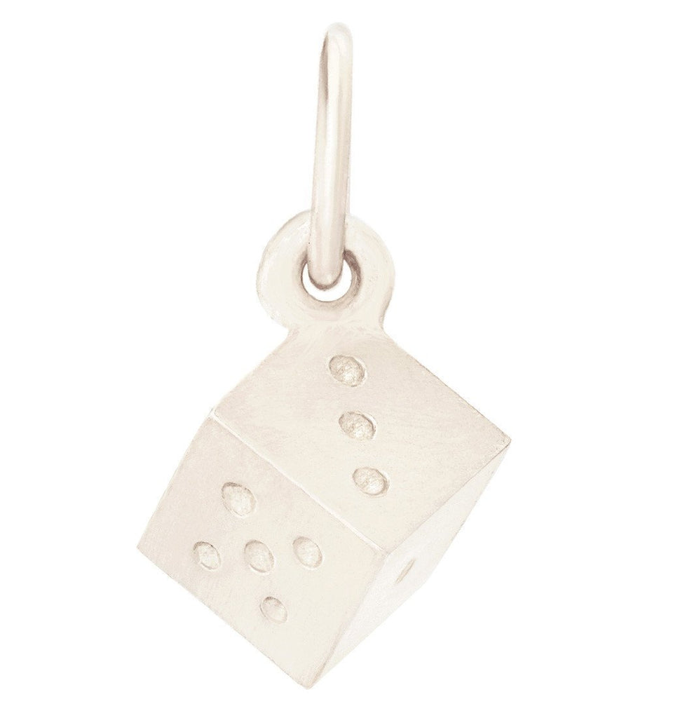 Dice Mini Charm Jewelry Helen Ficalora 14k White Gold