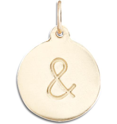 """&"" Disk Charm - 14k Yellow Gold - Jewelry - Helen Ficalora - 1"