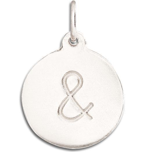 """&"" Disk Charm - 14k White Gold - Jewelry - Helen Ficalora - 2"