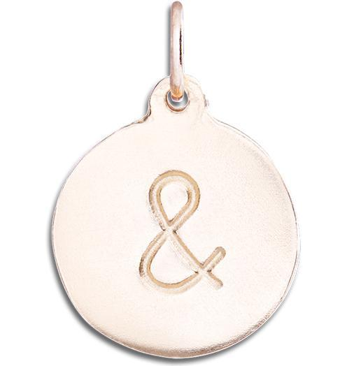"""&"" Disk Charm - 14k Pink Gold - Jewelry - Helen Ficalora - 3"