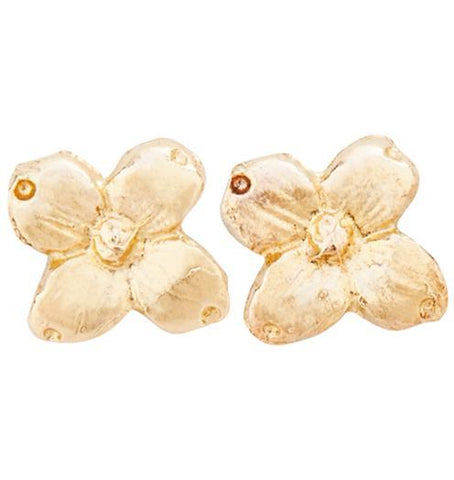 Dogwood Stud Earrings - 14k Yellow Gold - Jewelry - Helen Ficalora - 1