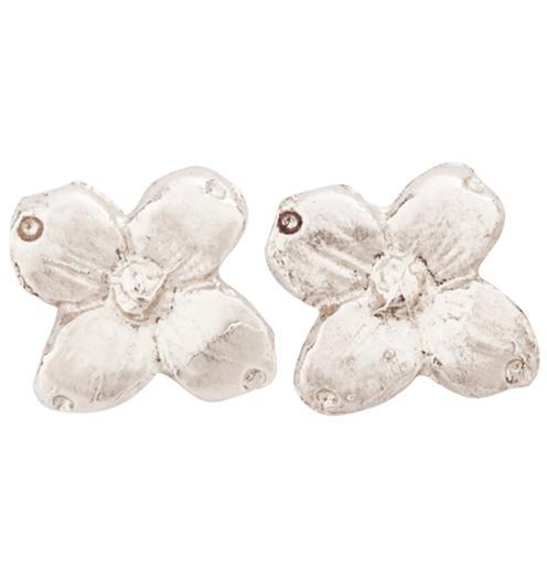 Dogwood Stud Earrings - 14k White Gold - Jewelry - Helen Ficalora - 2