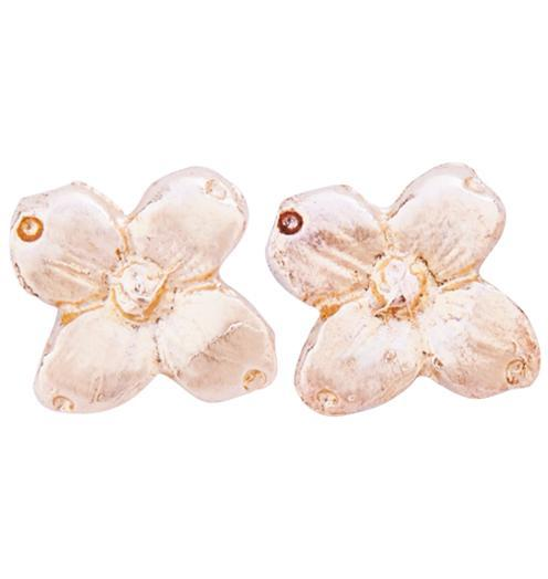 Dogwood Stud Earrings - 14k Pink Gold - Jewelry - Helen Ficalora - 3