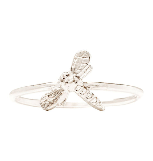 Dragonfly Stacking Ring Jewelry Helen Ficalora 14k White Gold 6