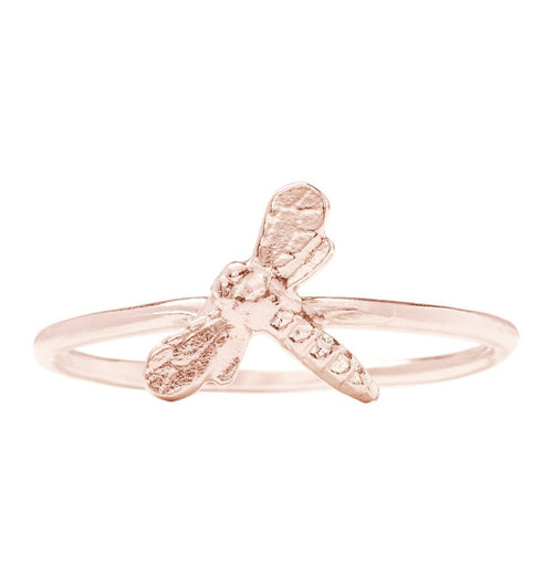 Dragonfly Stacking Ring Jewelry Helen Ficalora 14k Pink Gold 6
