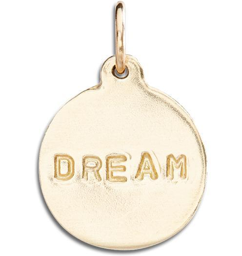 """Dream"" Disk Charm - 14k Yellow Gold - Jewelry - Helen Ficalora - 1"