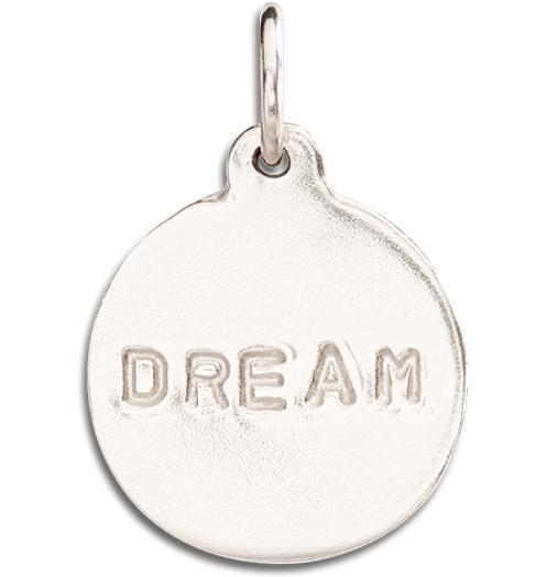"""Dream"" Disk Charm Jewelry Helen Ficalora 14k White Gold"