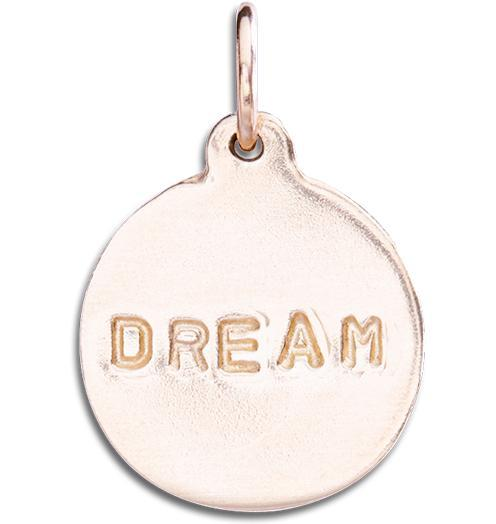 """Dream"" Disk Charm Jewelry Helen Ficalora 14k Pink Gold"