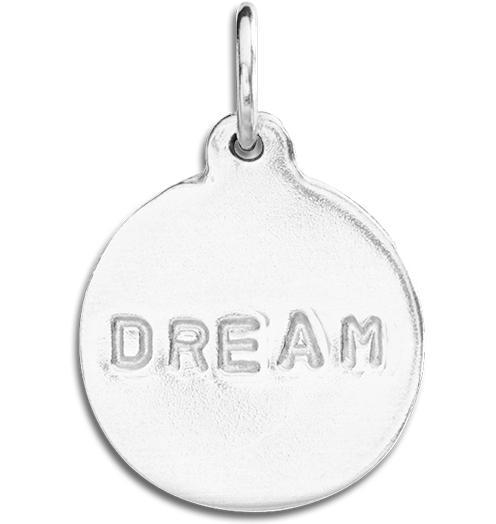 """Dream"" Disk Charm Jewelry Helen Ficalora Sterling Silver"
