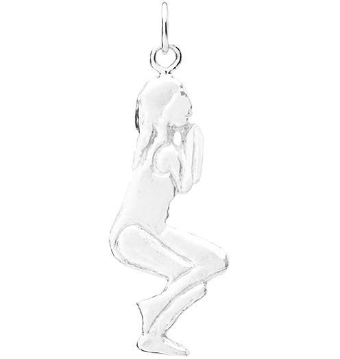 Eagle Pose Yoga Charm - Sterling Silver - Jewelry - Helen Ficalora - 1