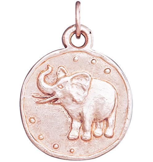 Elephant Coin Charm - 14k Pink Gold - Jewelry - Helen Ficalora - 3