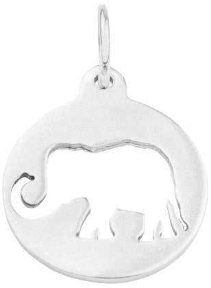 Elephant Cutout Charm - Sterling Silver - Jewelry - Helen Ficalora - 4