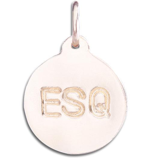 """ESQ"" Disk Charm - 14k Pink Gold - Jewelry - Helen Ficalora - 3"