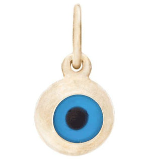 Evil Eye Mini Charm Jewelry Helen Ficalora 14k Yellow Gold