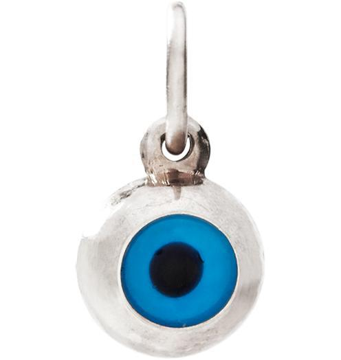 Evil Eye Mini Charm - 14k White Gold - Jewelry - Helen Ficalora - 2
