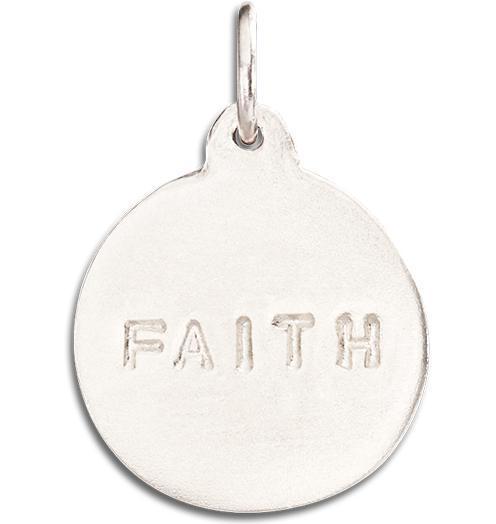 """Faith"" Disk Charm - 14k White Gold - Jewelry - Helen Ficalora - 2"