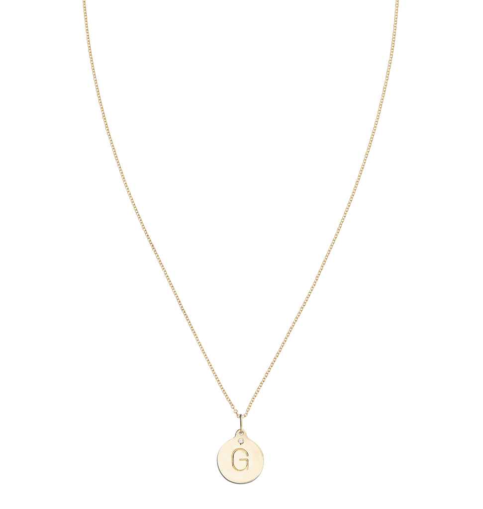 """G"" Alphabet Charm With Diamond -  - Jewelry - Helen Ficalora - 5"