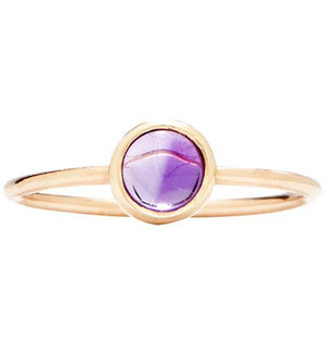 Gemstone Stacking Ring With Amethyst Jewelry Helen Ficalora 14k Yellow Gold 5