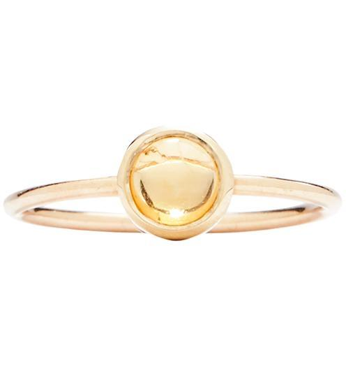 Gemstone Stacking Ring With Citrine - 14k Yellow Gold / 5 - Jewelry - Helen Ficalora
