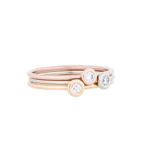 Gemstone Stacking Rings With Diamonds - 5 - Jewelry - Helen Ficalora