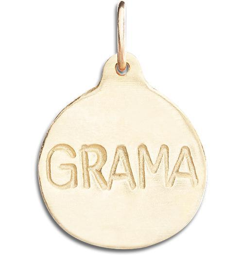 """Grama"" Disk Charm - 14k Yellow Gold - Jewelry - Helen Ficalora - 1"