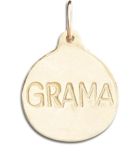 """Grama"" Disk Charm Jewelry Helen Ficalora 14k Yellow Gold"
