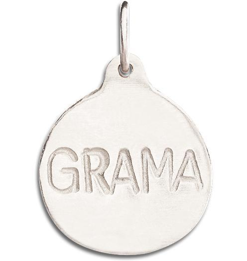 """Grama"" Disk Charm - 14k White Gold - Jewelry - Helen Ficalora - 2"