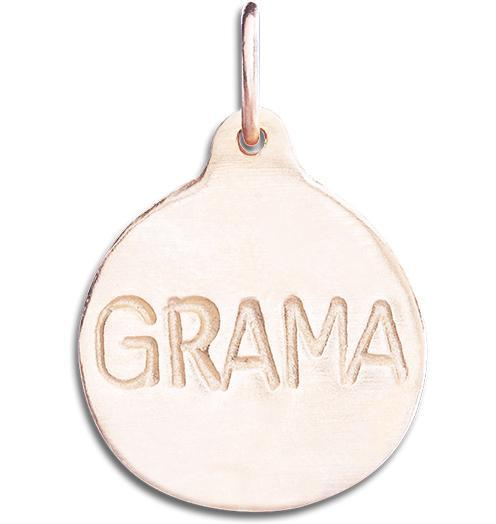"""Grama"" Disk Charm - 14k Pink Gold - Jewelry - Helen Ficalora - 3"