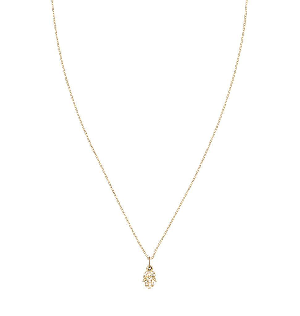 Hamsa Mini Charm Pave Diamonds -  - Jewelry - Helen Ficalora - 4