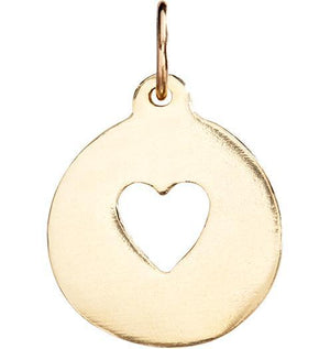 Heart Cutout Charm Jewelry Helen Ficalora 14k Yellow Gold