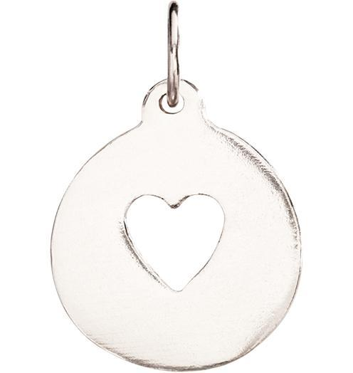 Heart Cutout Charm - 14k White Gold - Jewelry - Helen Ficalora - 2